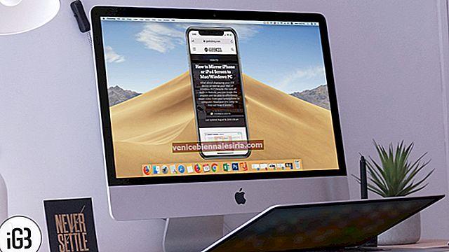 Как да огледално екрана на iPhone или iPad на Mac и Windows PC