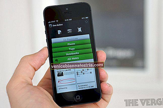 Synkroniseras inte Evernote med iPhone eller iPad?