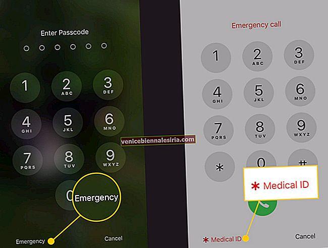 Hur får jag tillgång till medicinskt ID från låsskärmen i iPhone
