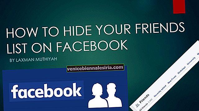 Hur du döljer din Facebook-vänlista