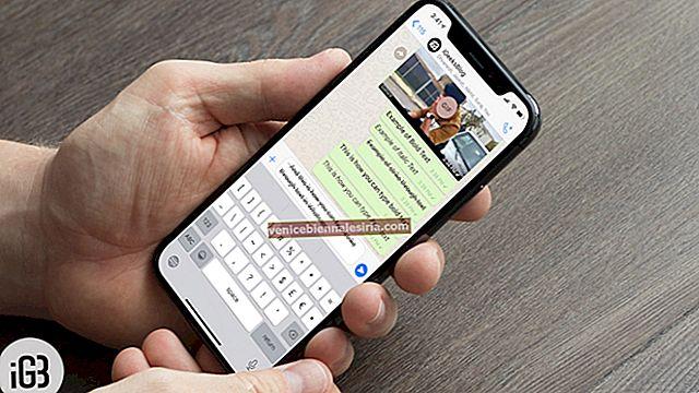 Hur man skriver fet, kursiv, genomträngning i WhatsApp på iPhone