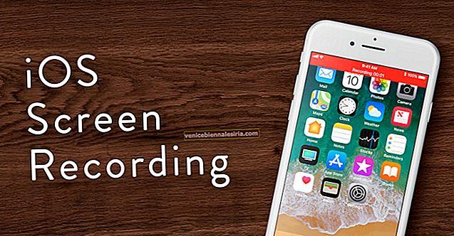 Hur man skärmar inspelningen på iPhone, iPad och iPod Touch