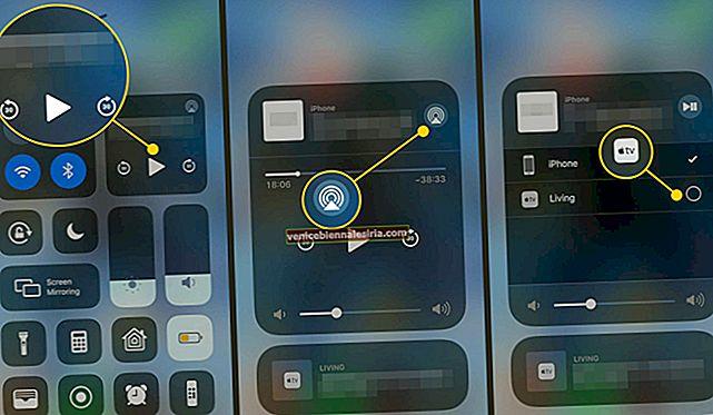 Hur AirPlay video / ljud från din iPhone eller iPad i iOS 10