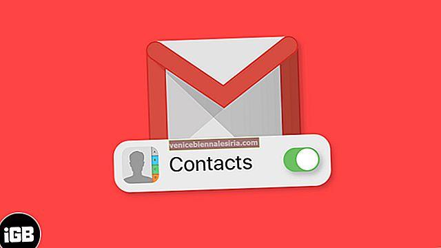 Как синхронизировать контакты из Gmail на iPhone или iPad