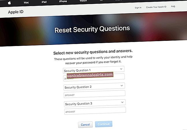 Как изменить контрольные вопросы Apple ID