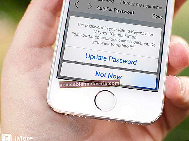 Hur låter Safari spara lösenord för webbplatser på iPhone